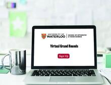 laptop with Virtual Grand Rounds - Sign up!
