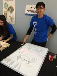 Student volunteer at the Science Open House