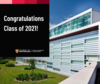Congratulations Class of 2021 with picture of School of Optometry and Vision Science building