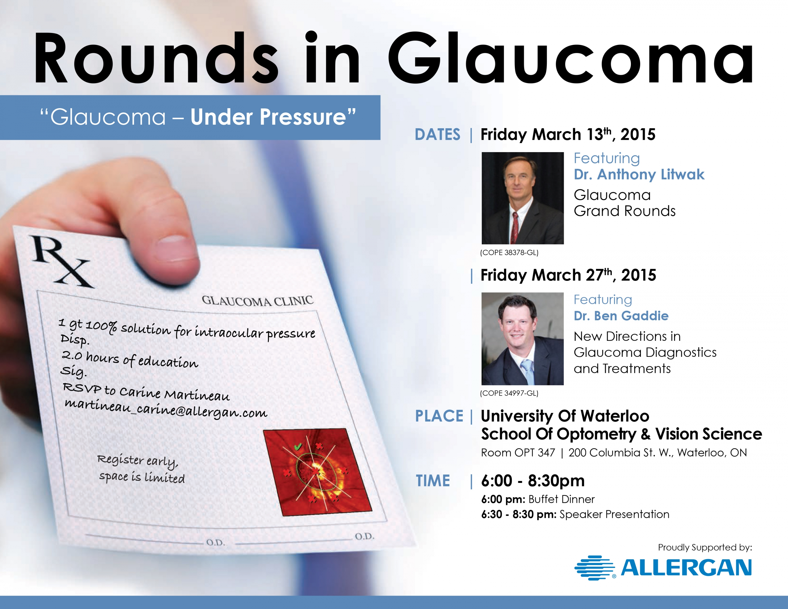 Allergan Glaucoma Rounds Lecture Series poster.
