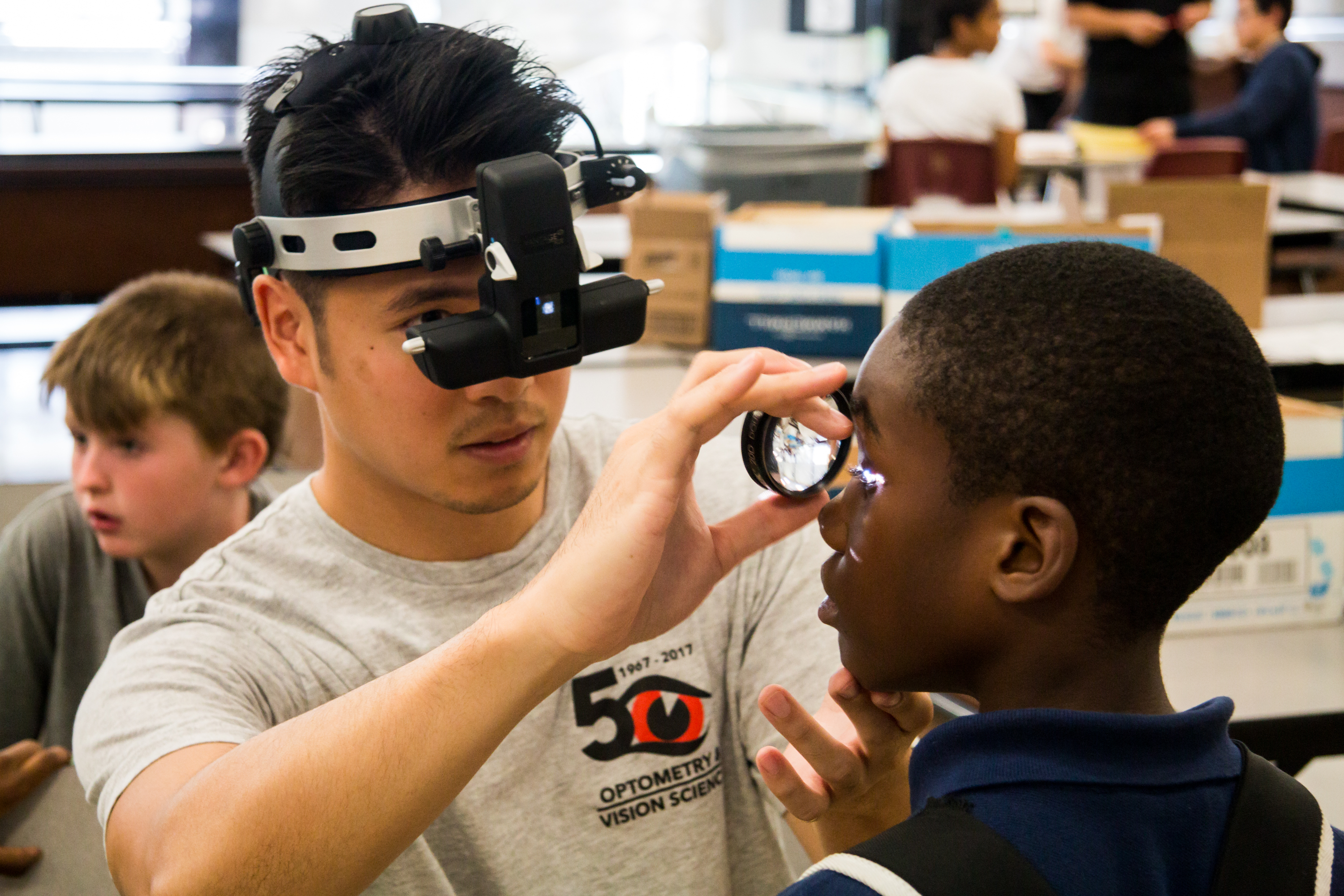 Optometry Doctoral student provides an eye exam