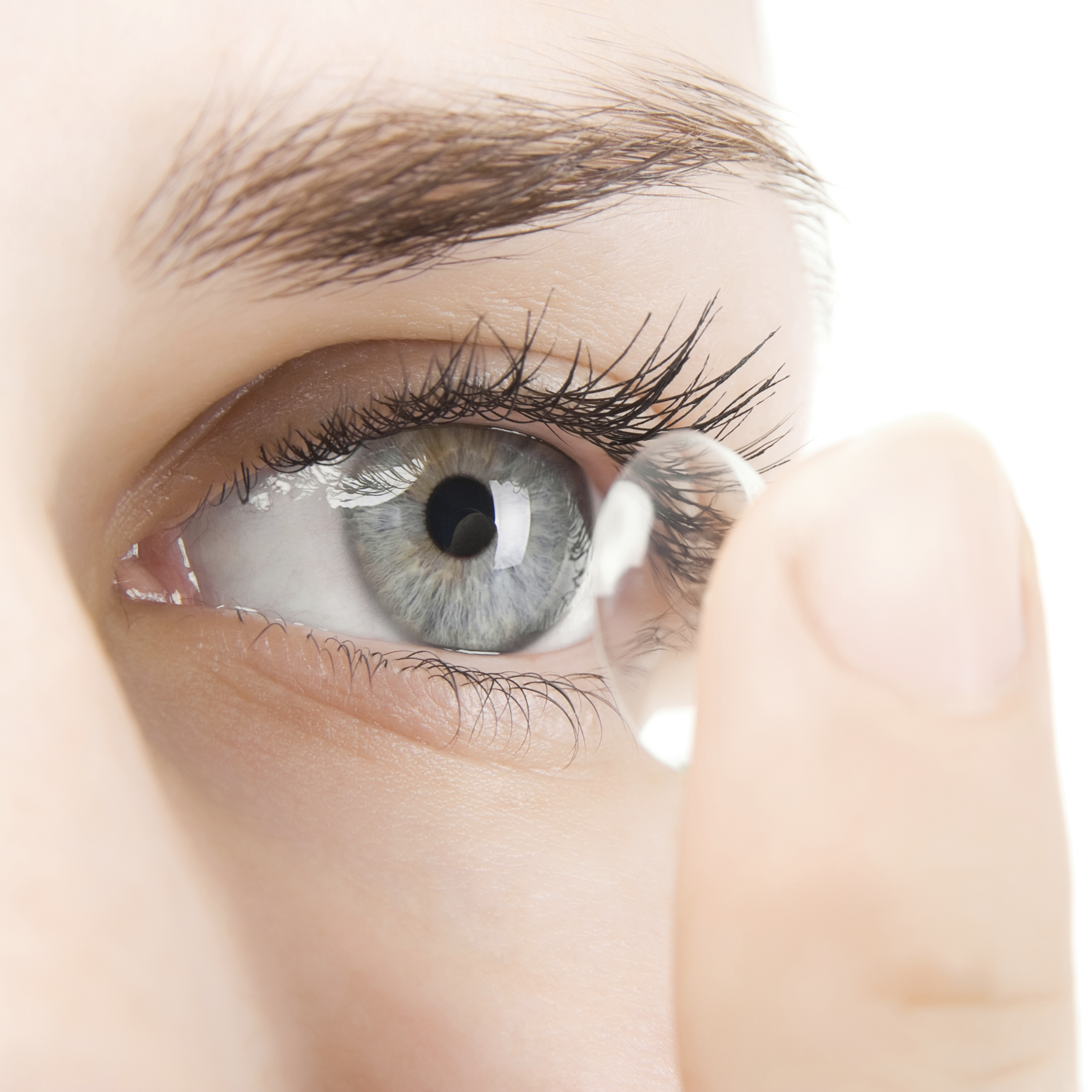 Stock photo of a contact lens.