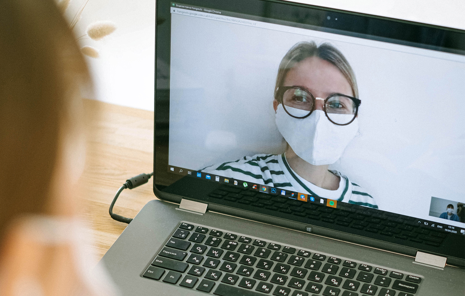 Patient participating in virtual session with health coach