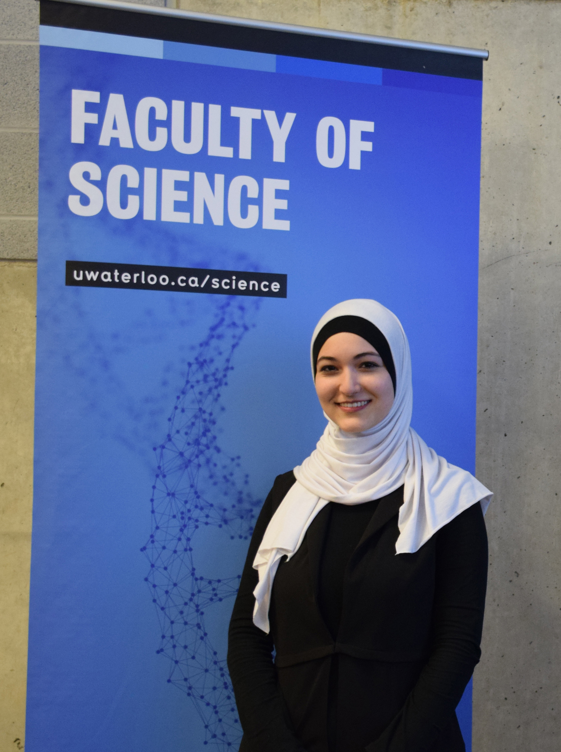 Yara Mohiar who placed first in the Science Faculty Heat of the 3 Minute Thesis (3MT) 2020 competition!