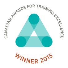 Canadian Awards of Training Excellence Winner 2015