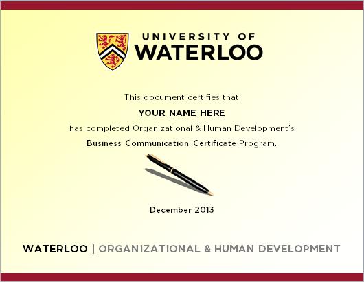 business communications certificate organizational human