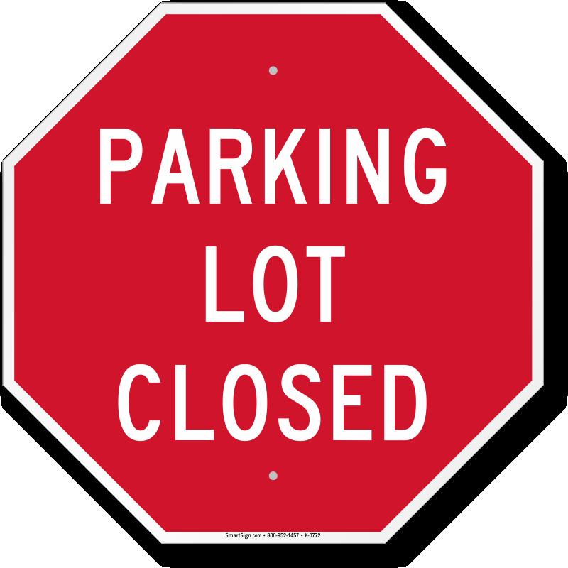 parkinglotclosedsign