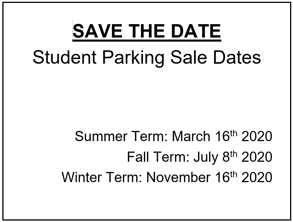 Permit Sale Dates 2020