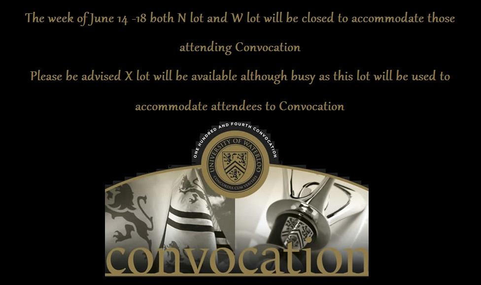 convocation parking