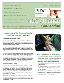 Winter 2012 PiDC Alliance Connection Newsletter