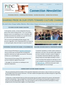 First page print version of newsletter