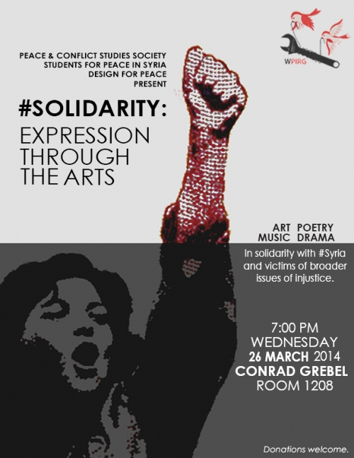 Solidarity event poster