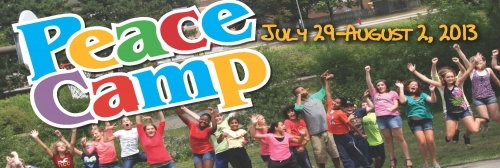 Peace Camp Logo. July 29 - August 2, 2013