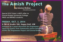 Poster for The Amish Project event