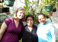 Rebekah with her Guatemalan family