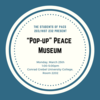 Decorative image with information about the pop-up museum.