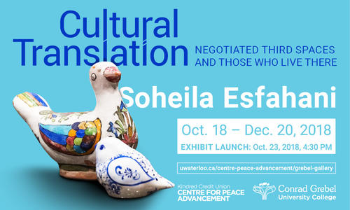 Poster detailing information about the Cultural Translation exhibit.