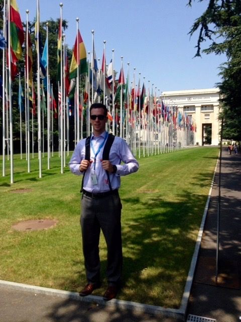 Michael Southcott at the UN in Geneva