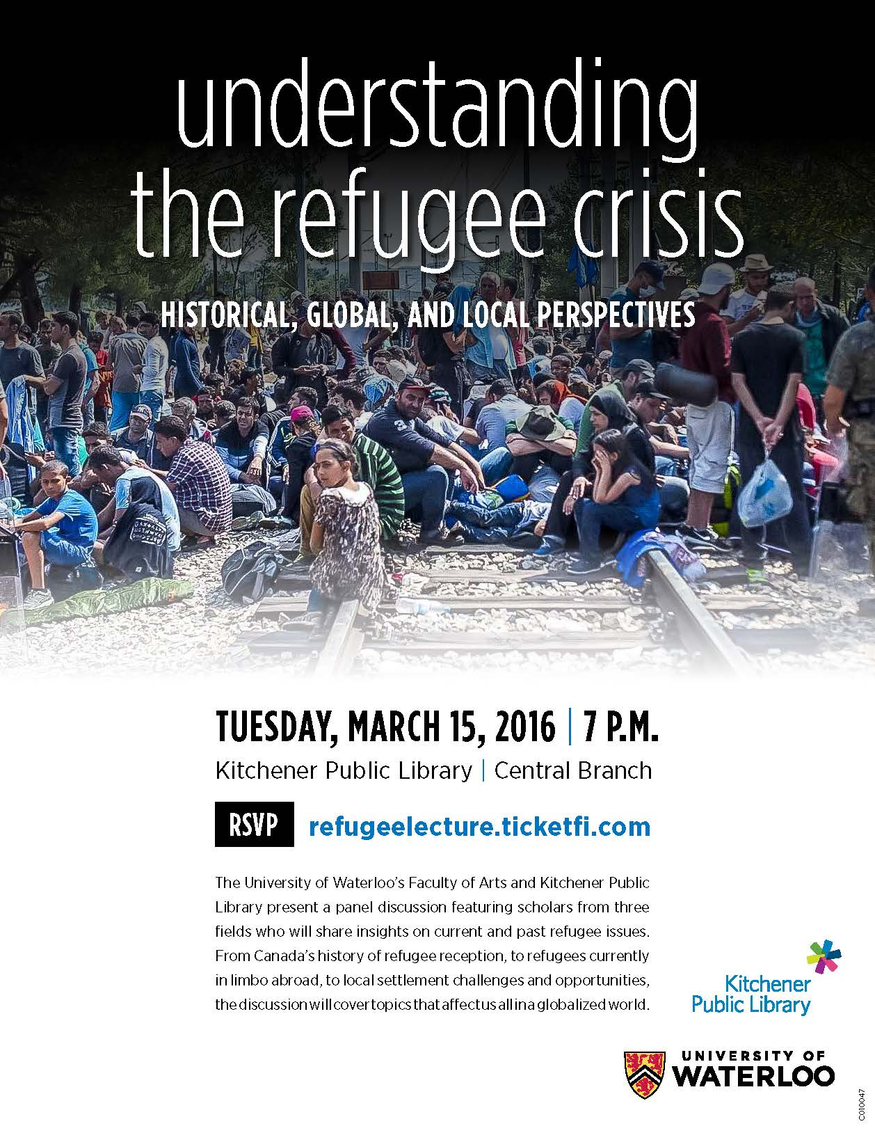 Event poster (Understanding the refugee crisis)