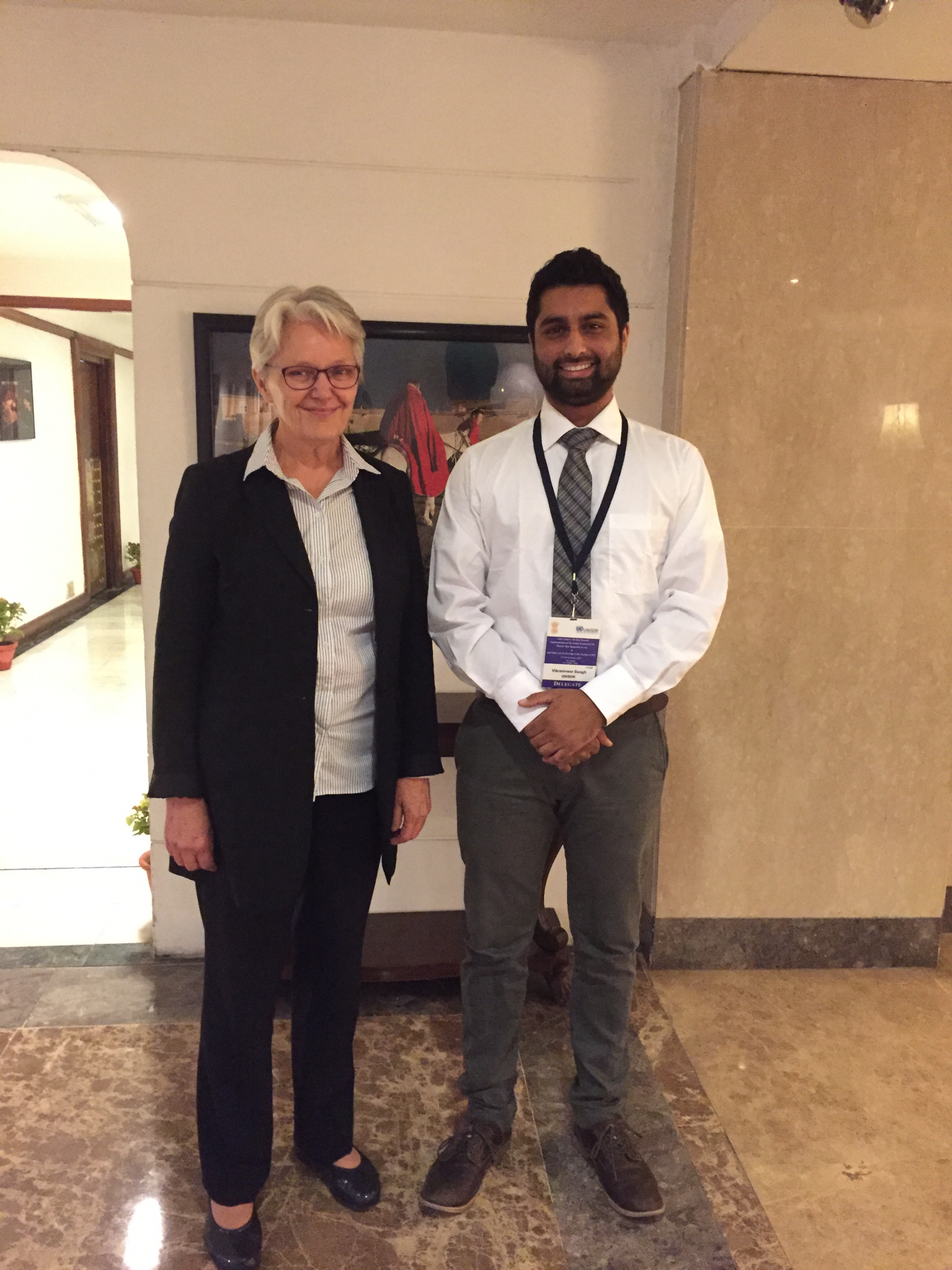 Vik with the Special Representative of the Secretary-General