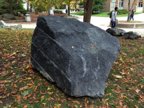 Black Granite Rock : Anorthosite peter russell rock garden university of