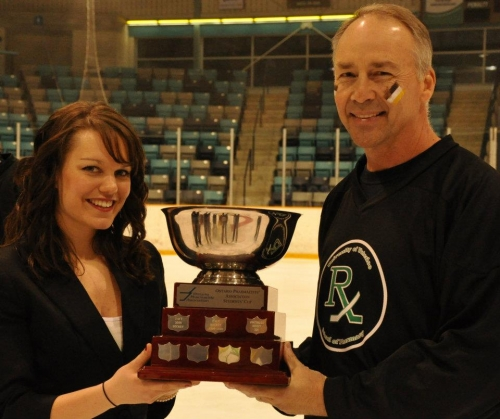 Picture of Dr. Edwards and Kacie with OPA Cup