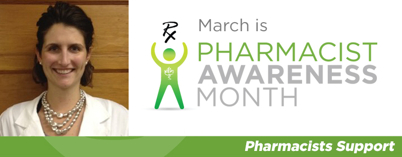 Angela Puim smiling. March is Pharmacist Awareness Month. Pharmacists Support.