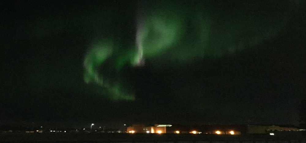 Northern lights above For McMurray