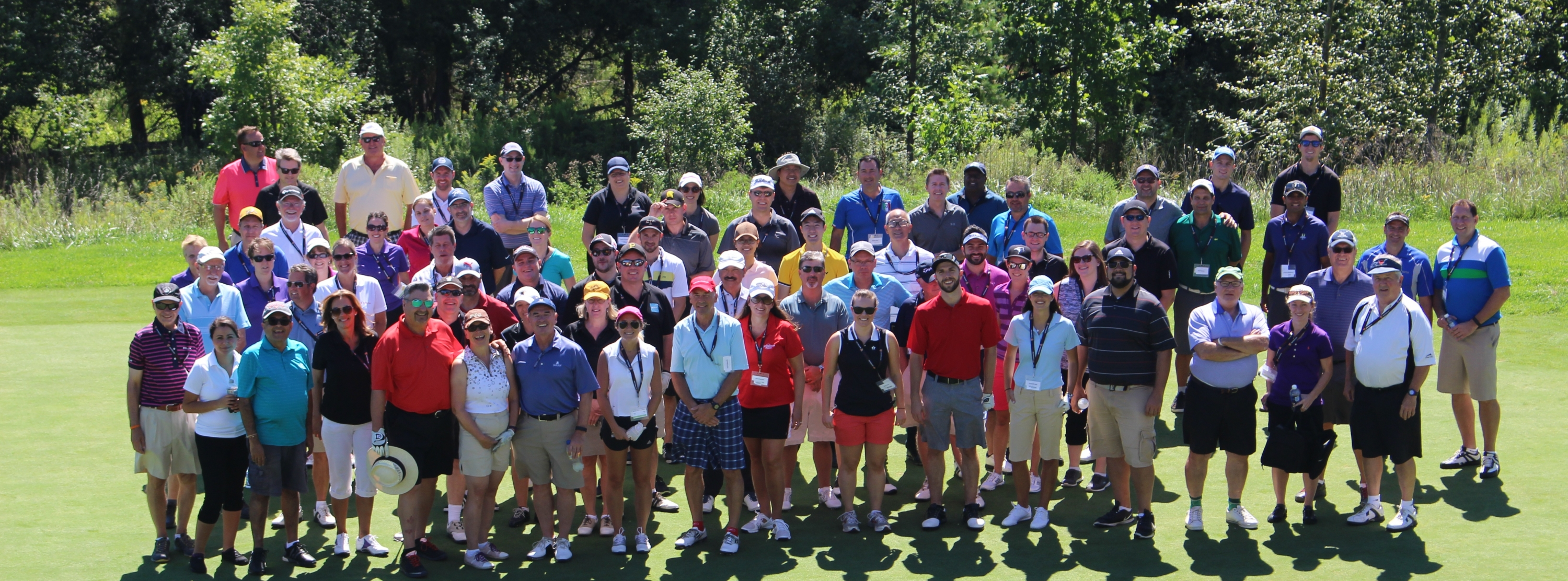 Golf participants on the course