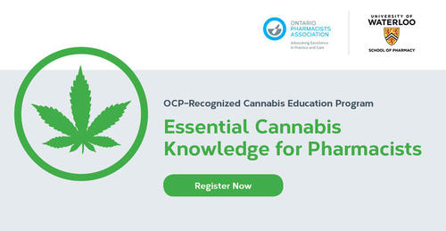 OCP recognized cannabis education program. Essential cannabis knowledge for pharamacists.