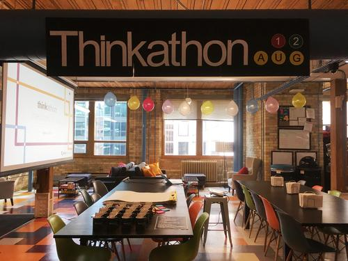 Think Research office set up for Thinkathon event