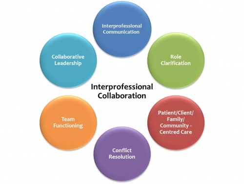 interprofessional collaboration in health care As the delivery of healthcare evolves to become more interconnected, coordinating care between nurses, pharmacists, physicians, social workers and other disciplines has become increasingly important in its simplest form, interprofessional collaboration is the practice of approaching patient care from a team-based perspective.