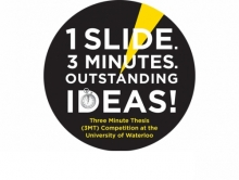 Three minute thesis logo.
