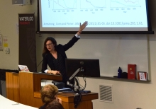 Dr. Kelly Grindrod lecturing.