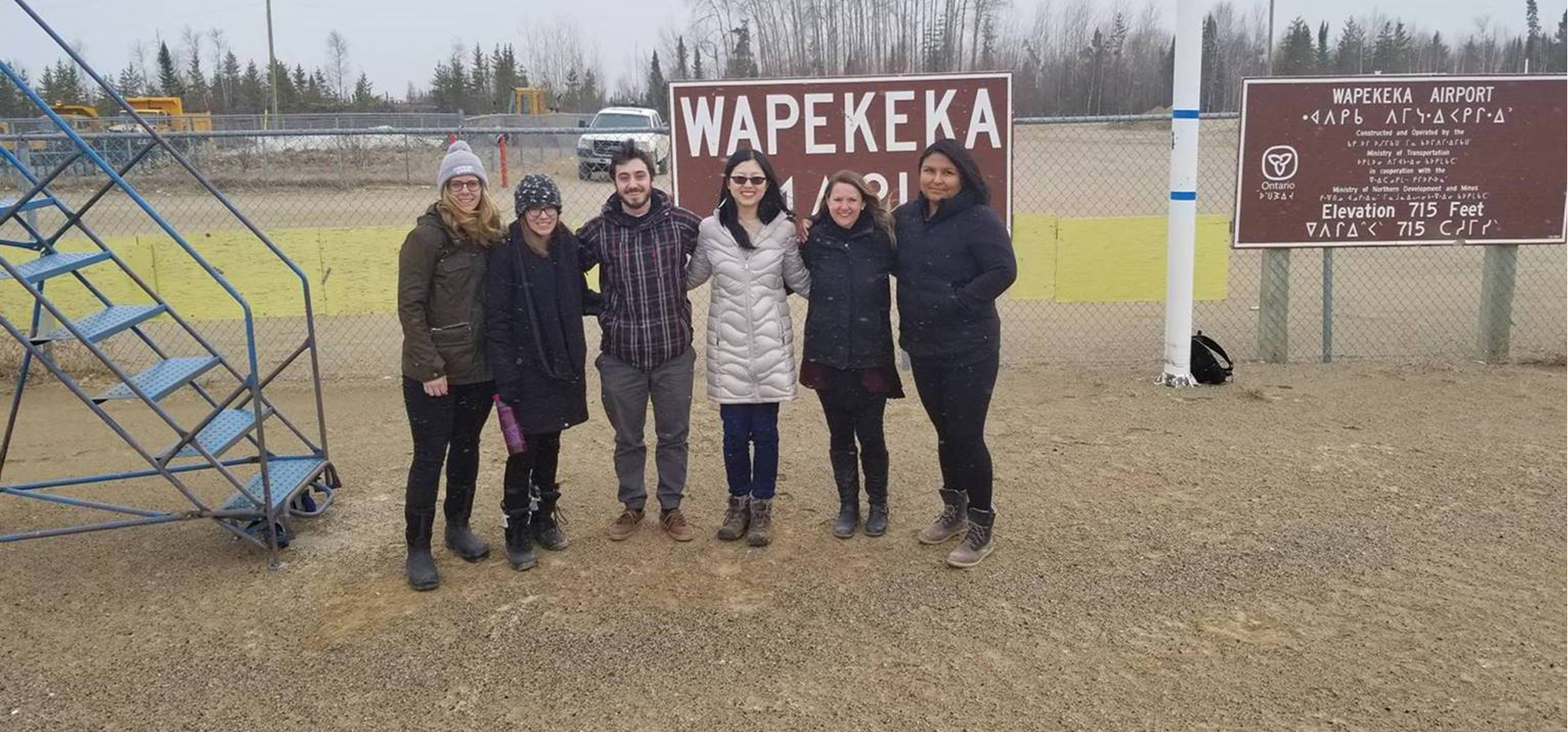 Christine and coworkers arrive in Wapeka First Nation