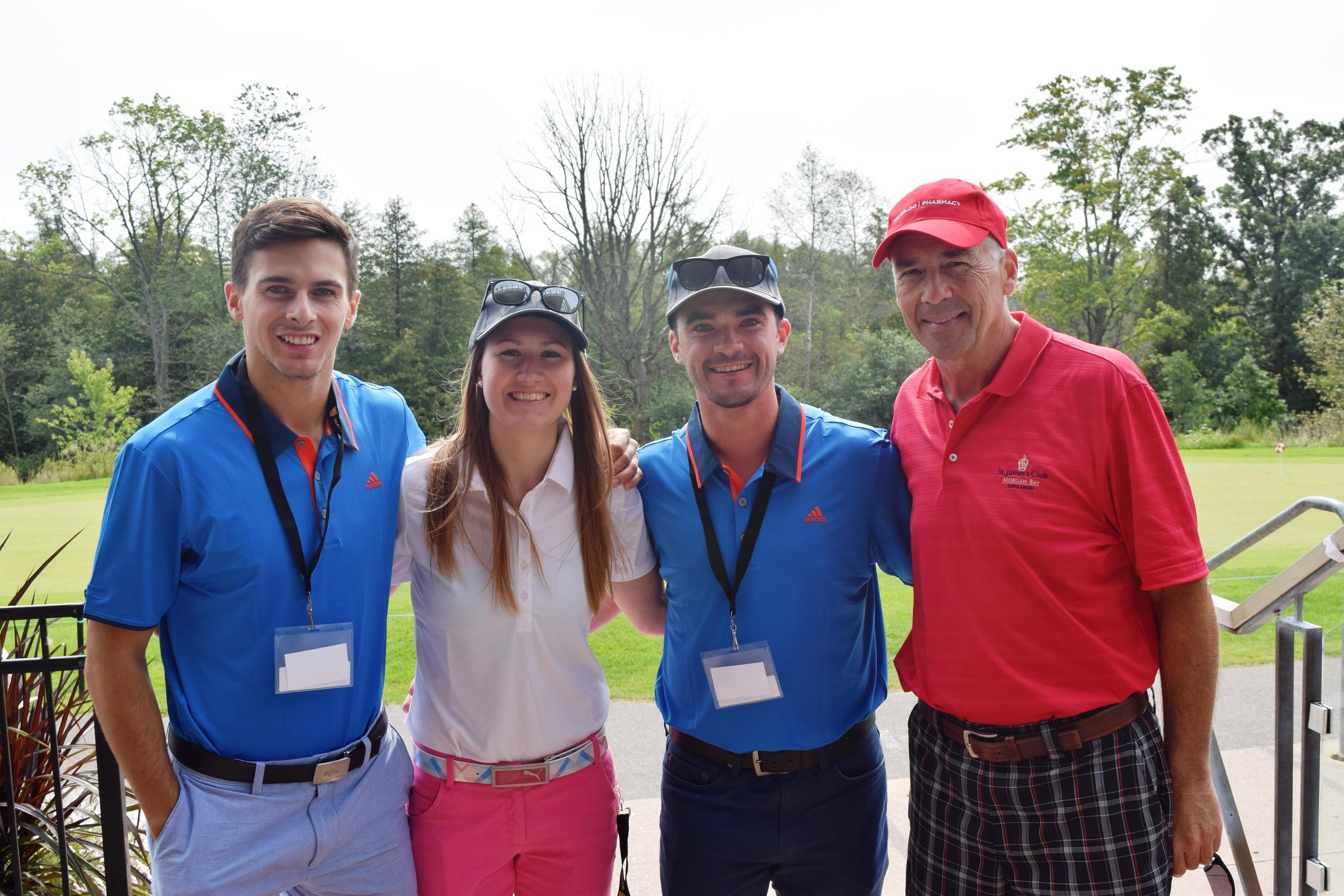 Students at golf tournament