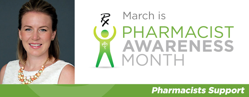 Heather Foley smiling. March is Pharmacist Awareness Month. Pharmacists Support.
