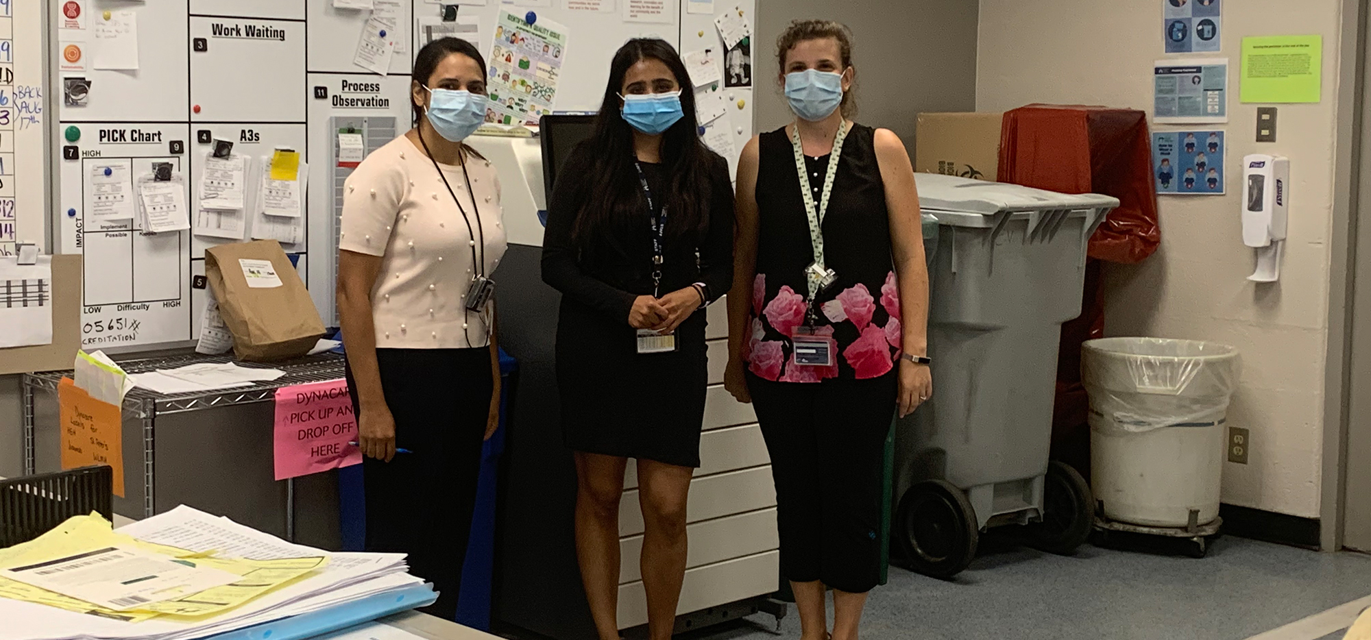 Lauren and coworkers at the hospital