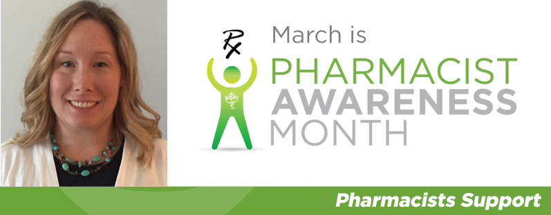 Lindsay Bennet smiling. March is Pharmacist Awareness Month. Pharmacists Support.