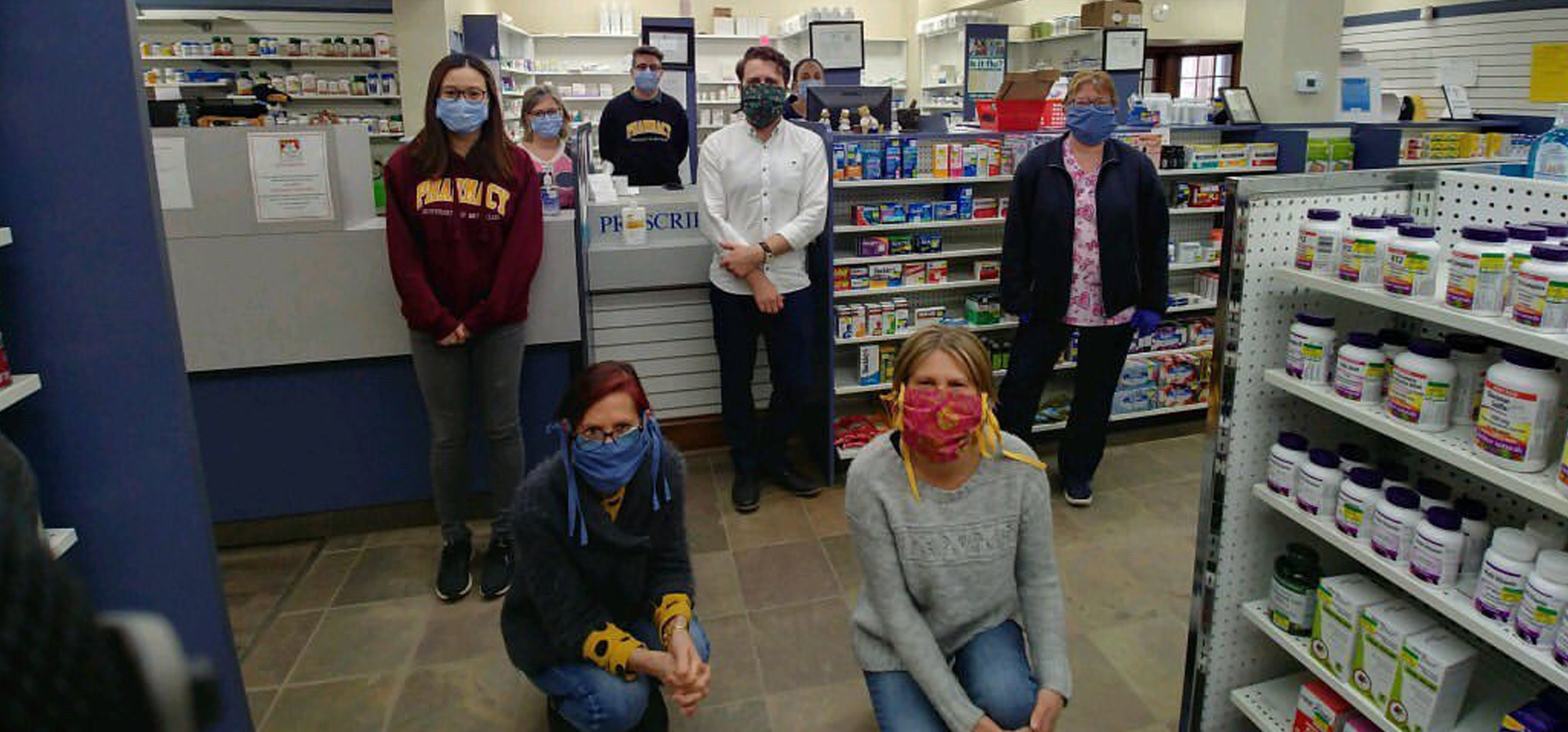 Lee Pham and her coworkers at the Preston Medical Pharmacy