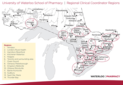 Regional Clinical Coordinator map