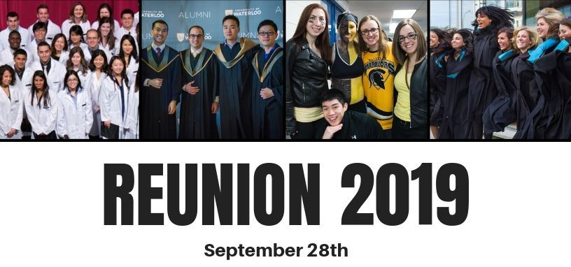 Reunion 2019 Sept 28th. Smiling students.