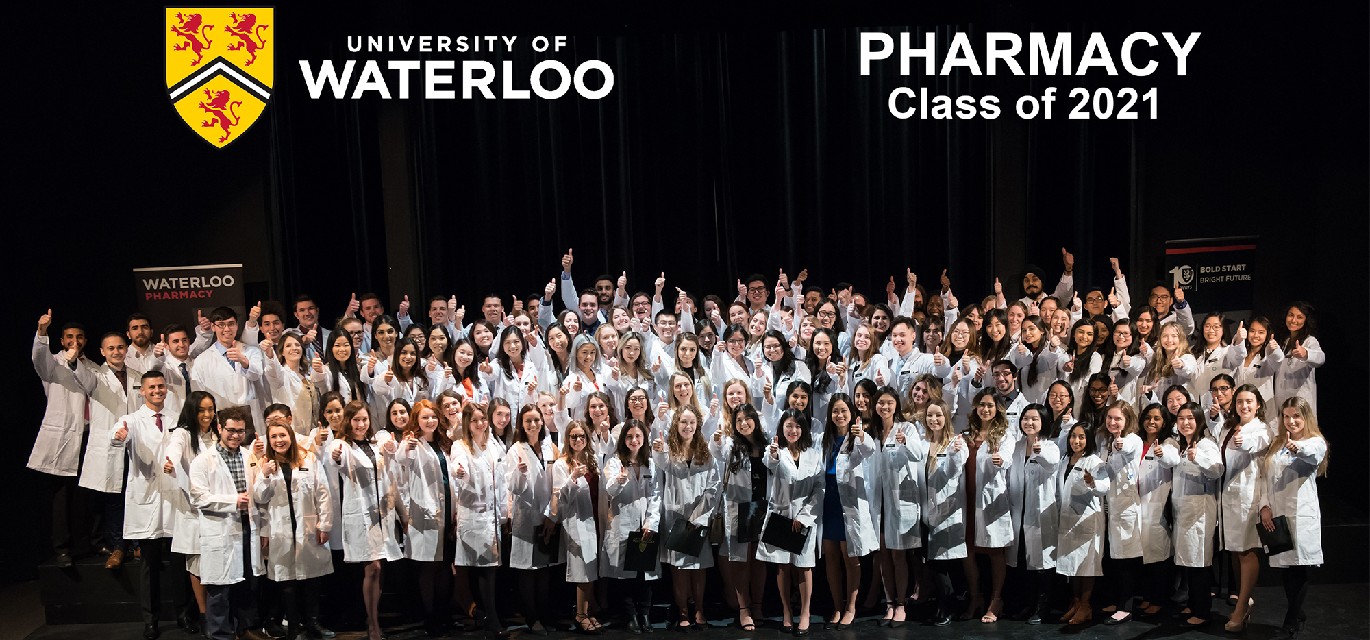 Rx2021 at their white coat ceremony smiling