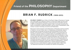 Brian F. Rudrick - Friend of Philosophy Department