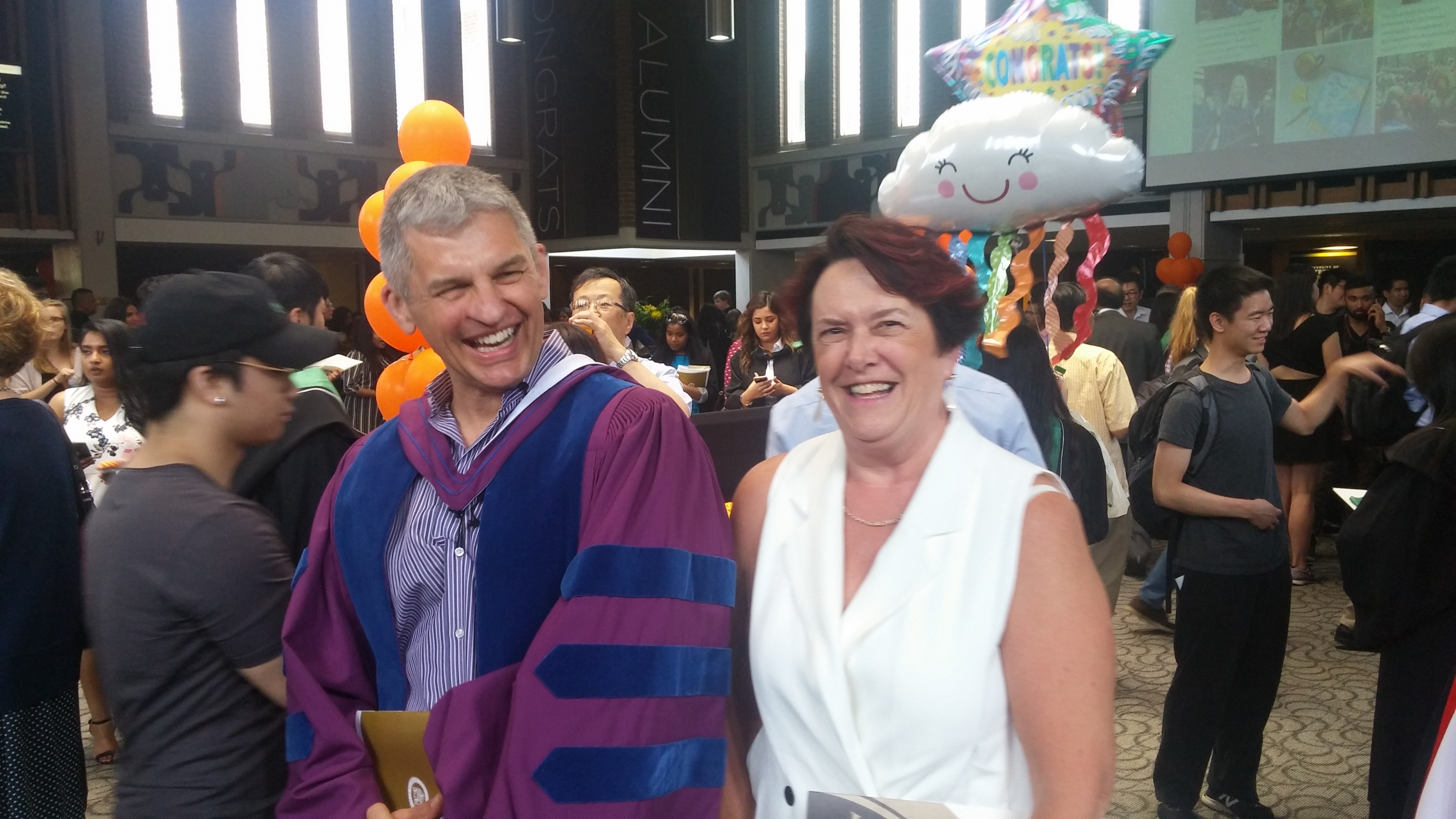 Dave and Debbie at Spring Convocation