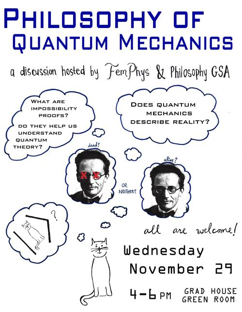 Quantum Mechanics discussion poster