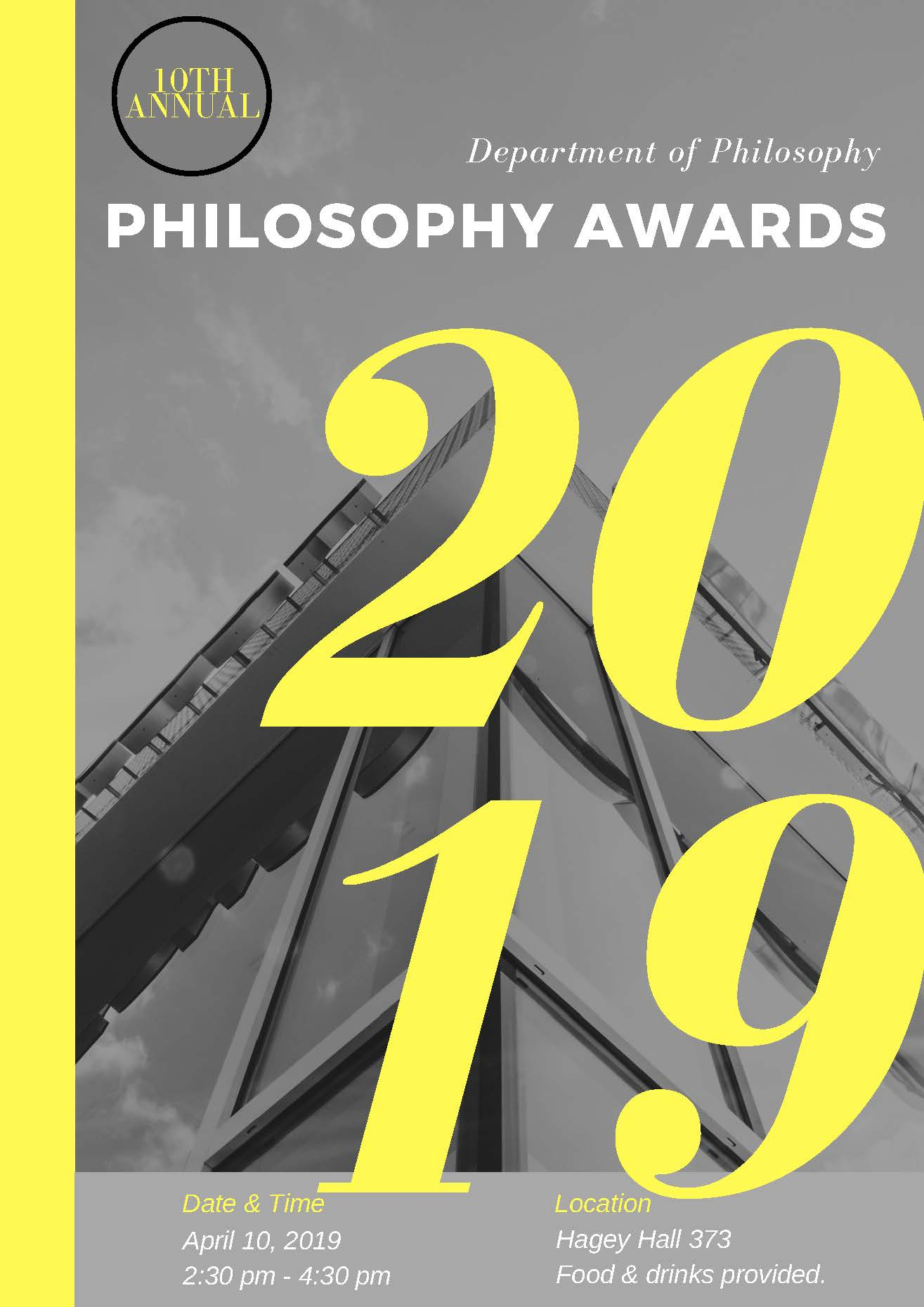 Poster for the 2019 philosophy awards