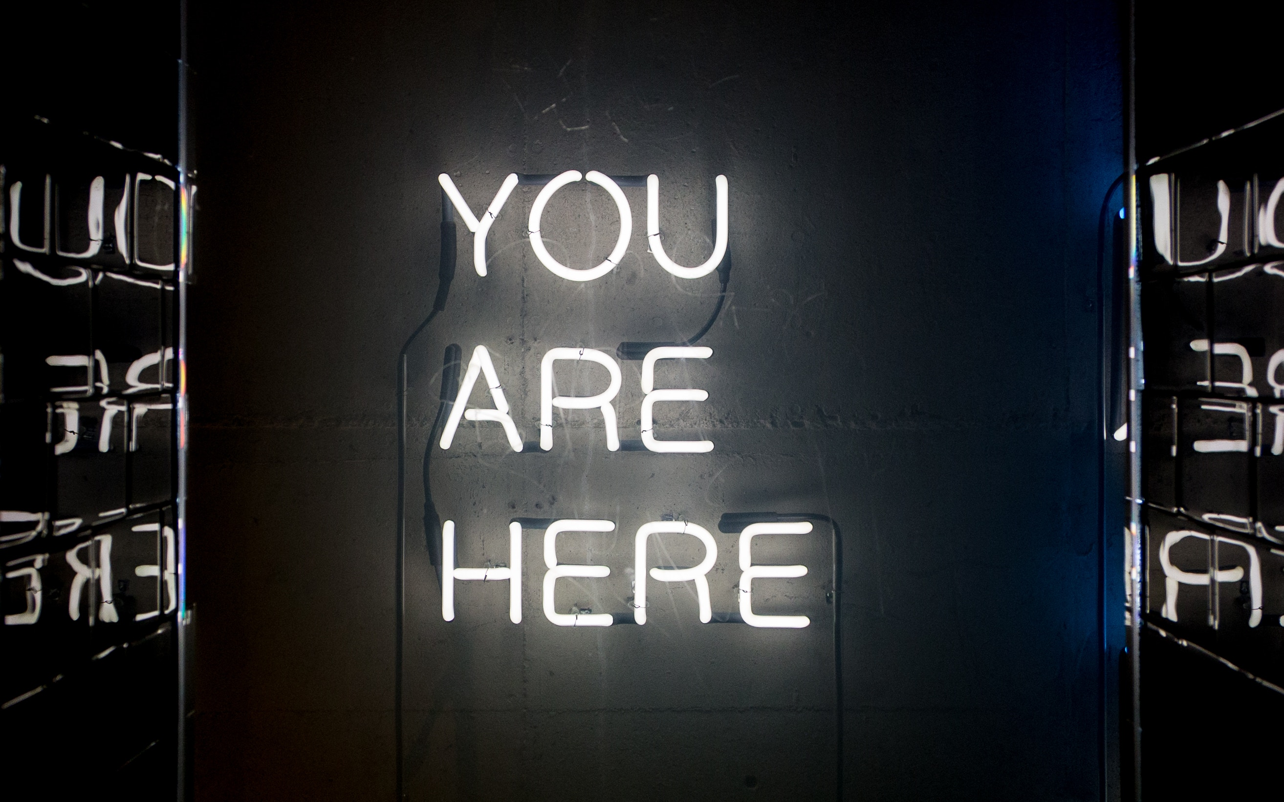 You are here message
