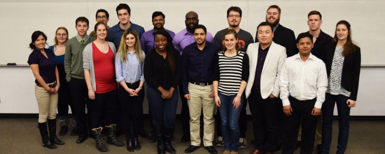 group photo of science 3 minute thesis competitors