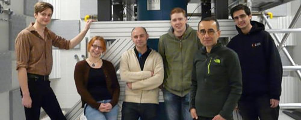 Professor Budakian with members of his lab